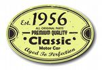 Distressed Aged Established 1956 Aged To Perfection Oval Design For Classic Car External Vinyl Car Sticker 120x80mm